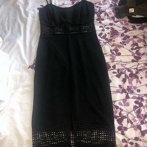 Black midi dress with straps